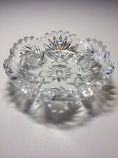 Antique Cut Glass Candy Dish 5 Inches, American Brilliant Period, heavy crystal