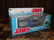 """Jaws Movie 10"""" Funko Action Figure Prop Toy Shark Signed by Writer Carl Gottlieb"""
