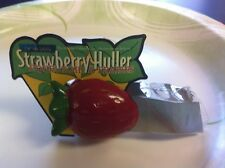 STRAWBERRY HULLER STAINLESS STEEL PINCHER, PLASTIC STRAWBERRY TOP FREE SHIPPING