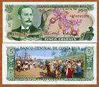 Costa Rica, 5 Colones, 1986, P-236d, UNC - colorful