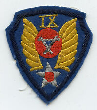 WW2 IX Engineer Command Air Force patch - Theater made bullion and super rare!