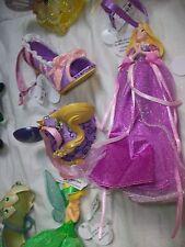 Lot of 3 Disney Rapunzel Shoe Mouse Hat Gown Figurine Ornament