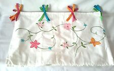Kids Girls Pink Floral/Butterfly Valance Garden Set of Two NWOT Lined