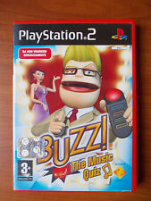 DVD - BUZZ THE MUSIC QUIZ - PLAYSTATION 2 COMPLETO DI PULSANTIERE