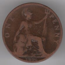United Kingdom 1896 1d Penny Bronze Coin