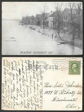 1913 Ohio Flood Postcard - Dayton - South Summit Street
