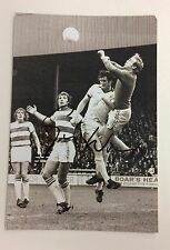 A 6 x 4 inch photo personally signed by George Wood when playing for Everton.