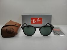 RAY-BAN ROUND SUNGLASSES RB2180 601/71 BLACK FRAME/GREEN CLASSIC G-15 LENS 49MM