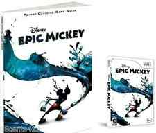 Disney's Epic Mickey Game & Prima Official Game Guide (Wii) Unleash The Power!