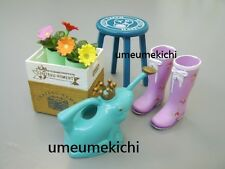 Re-ment dollhouse miniature garden boots watering can potted plants stool 2007
