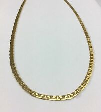 """10k Yellow Gold Mariners Link Chain Necklace-24"""" Long-12.8 grams ~New W/O Tag"""