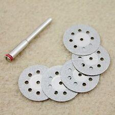 5 x 22mm Mini Diamond Cutting Discs Dremel Tools New