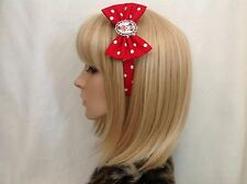 Minnie Mouse headband hair bow rockabilly pin up Disney vintage Mickey Mouse red