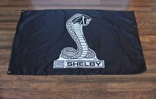 New Black Cobra Racing Flag Shelby Ford Mustang SVT Garage Banner Snake Logo