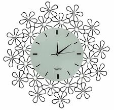 Lulu Decor, Daisy Lines Decorative Metal Wall Clock, Size 23.50 (Lines)