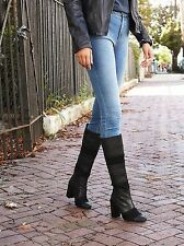 $328 Free People / Jeffrey Campbell Leather Marina Knee Boot Size 8