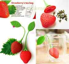 Silicone Strawberry Tea Leaf Strainer Herbal Spice Infuser Filter Diffuser Loose