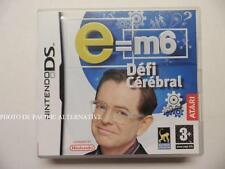 jeu E=M6 DEFI CEREBRAL sur nintendo DS en francais game juego spiel complet TBE