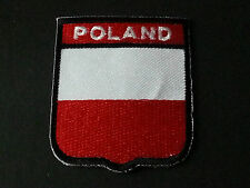 BACKPACKERS NATIONAL COUNTRY SHIELD FLAG SEW/IRON ON PATCH:- POLAND