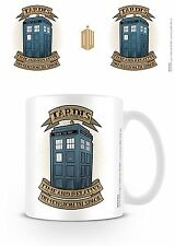 Official Doctor Dr Who Tardis Tattoo Mug TV Film Gift Police Box Time Lord