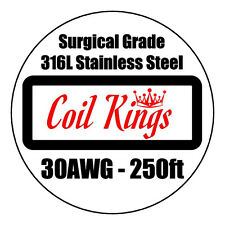 30AWG 250ft 316L STAINLESS STEEL WIRE HIGH QUALITY SURGICAL SS WIRE