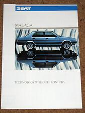 1986 SEAT MALAGA Brochure