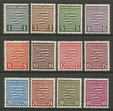 RUSSIAN ZONE. 1945. Perforated Arms Set. SG: RC8/19. Mint Never Hinged.