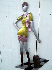Brilliant Wall Art - Metal Wall Art - Posing Lady With Suitcase