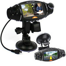 Dual Lens Dash In Car Vehicle Camera Cam Video Recorder DVR G-sensor GPS Logger