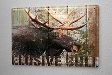 Tin Sign Wall Decor Adventurer  moose head Metal Plate