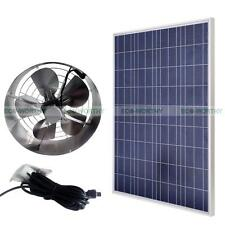 65W Vent Fan Kits & 100W Watts Solar Panel Module for Barn Gable Attic Roof
