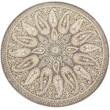 Pier 1 imports 8 x 8 Mersey Ivory Round Persian Style Woolen Rugs & Carpet