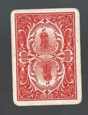 Playing Swap Cards 1GENUINE WIDE U.S. LADY ON BICYCLE REVERSABLE  2WW OLD