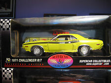 DODGE CHALLENGER HIGHWAY 61 1971 YELLOW  R/T 1:18 SCALE NEW COND HEADLIGHT NEEDS