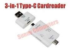 USB 3.1 Type-C 3in1 OTG Dongle TF SD MS Card Reader for HTC 10 Samsung Note 7 AU
