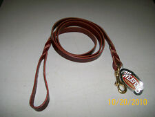 Weaver Leather ~ Heritage Twisted Latigo Leather Leash ~ Leather Dog Leash