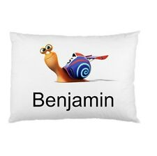 TURBO SNAIL Personalized childrens kids BED pillow case