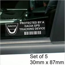 5 x Dacia GPS Tracking Device Security Stickers-Logan,Dokker-Car Alarm Tracker