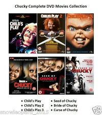 CHUCKY COMPLETE MOVIE COLLECTION DVD ALL 6 FILM CHILDS PLAY CURSE OF BRIDE SEED