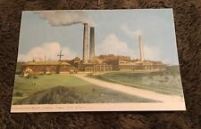 Vintage Postcard Unposted Int Nickel Smelter Copper Cliff Ontario Canada