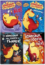 The Dinosaur That Pooped Collection - 4 Books (PB) Tom Fletcher & Dougie Poynter