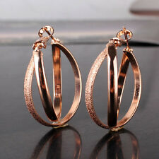 Promise hoop earring 18k rose gold filled stylish lady stylish wedding earring