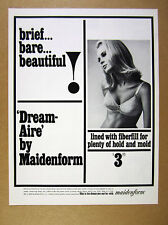 1965 Maidenform Dream-aire Bra pretty blond woman photo vintage print Ad
