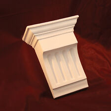Corbels Fluted Medium - Fine Plaster. X2 (Pair) Handmade in Kent. Height 240mm
