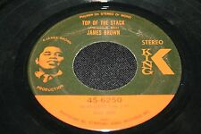 """JAMES BROWN Top of the Stack Lowdown Popcorn 7"""" 45 EX KING 'o SOUL FUNK 6250"""