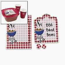 Paper Red Gingham BBQ Labels (123921)