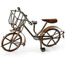 Dollhouse Miniature Fairy Garden Metal Bicycle Bike, WEATHERED