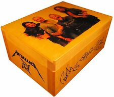 METALLICA James Hetfield, figure statue, AUTOGRAPHED  BOX, Poster, Quote, Guitar