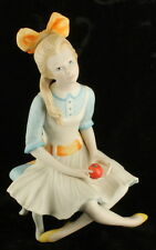 "Vintage Cybis Pollyanna 1971 Children to Cherish Porcelain Figurine 7""  Apple"