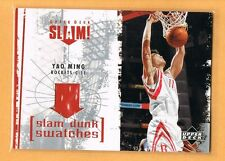2005-06 Upper Deck Yao Ming Game Used Jersey Houston Rockets
